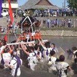 Kawawatari Jinkousai ( River-crossing festival )( Fukuoka )